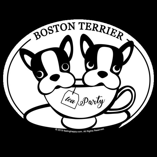 Boston Terrier Tea Party