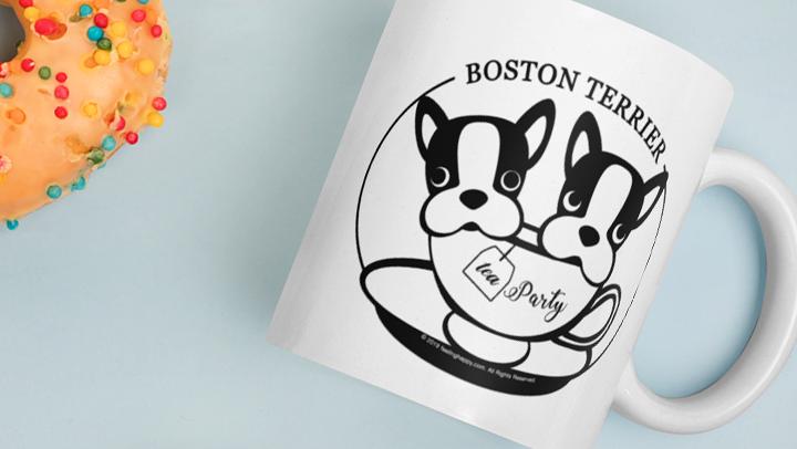 Boston Terrier Tea Party Mug
